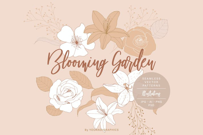 Thumbnail for Blooming Garden Floral Patterns