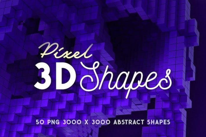 Thumbnail for 50 Pixel 3D Shapes