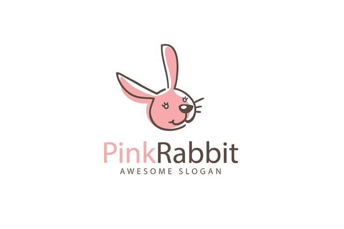 Thumbnail for Pink Rabbit Logo Template