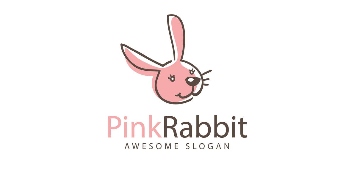 Download Pink Rabbit Logo Template by Be_Themes