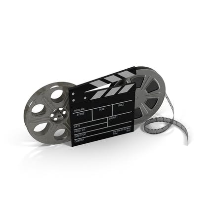 Movie Reels and Clapperboard