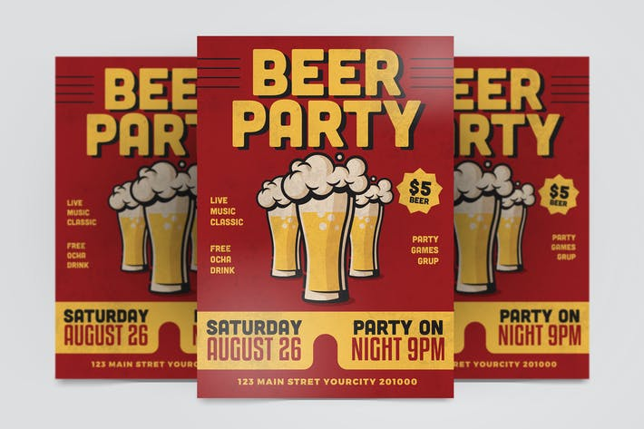 Cover Image For Beer Party Flyer