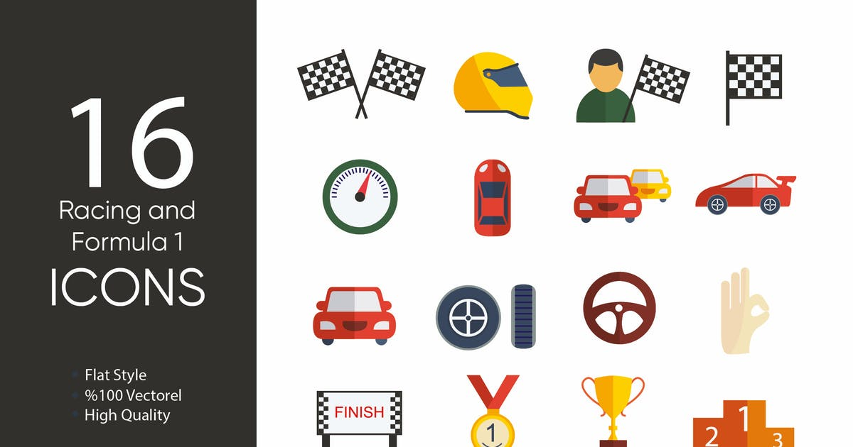 Download Racing and Formula 1 Icons by M0DE0N