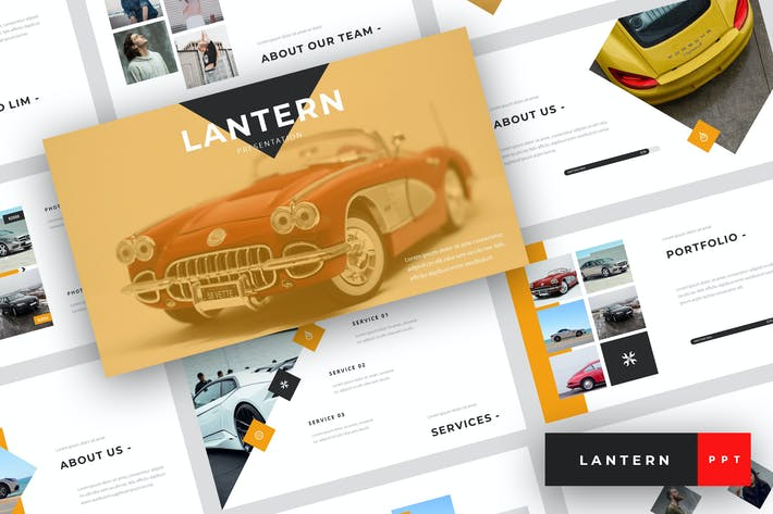 Thumbnail for Lantern - Concessionnaire automobile PowerPoint Modèle