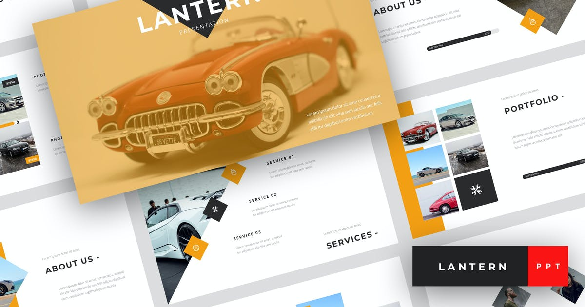 Lantern Car Dealership Powerpoint Template By Stringlabs On Envato Elements