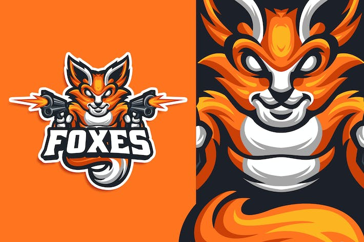 Thumbnail for Foxes Esport and Sport Logo Template