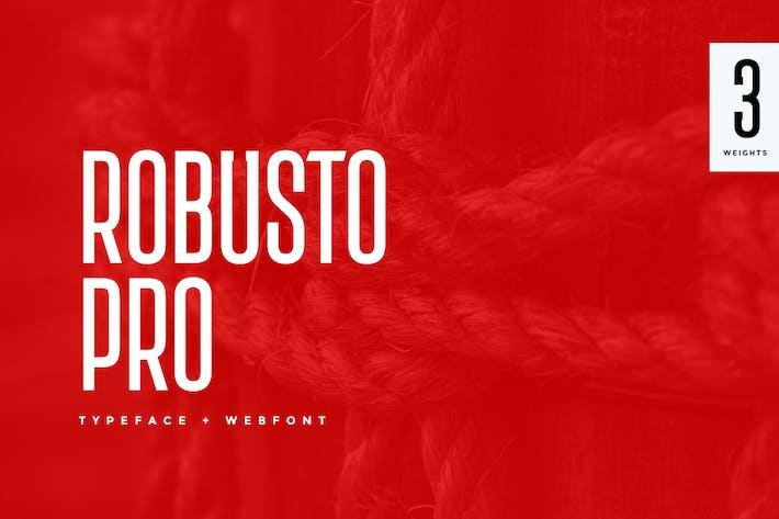 Thumbnail for Robusto Pro Modern Typeface + WebFont