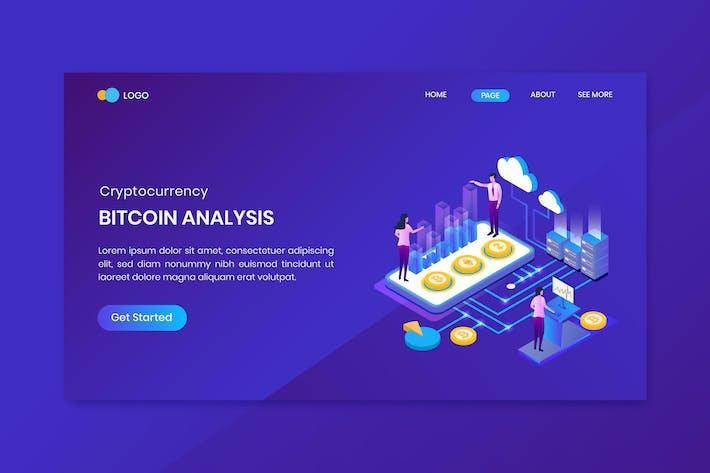 Bitcoin Analysis Landing Page Template