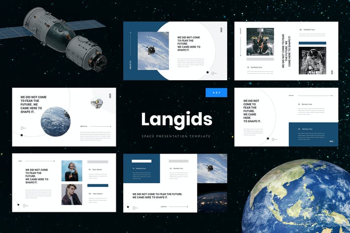 Thumbnail for Langids - Space Keynote Presentation Template