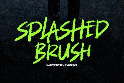 Splashed Brush Font