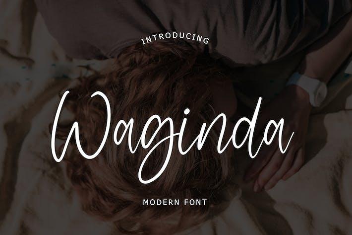 Thumbnail for Waginda Modern Font