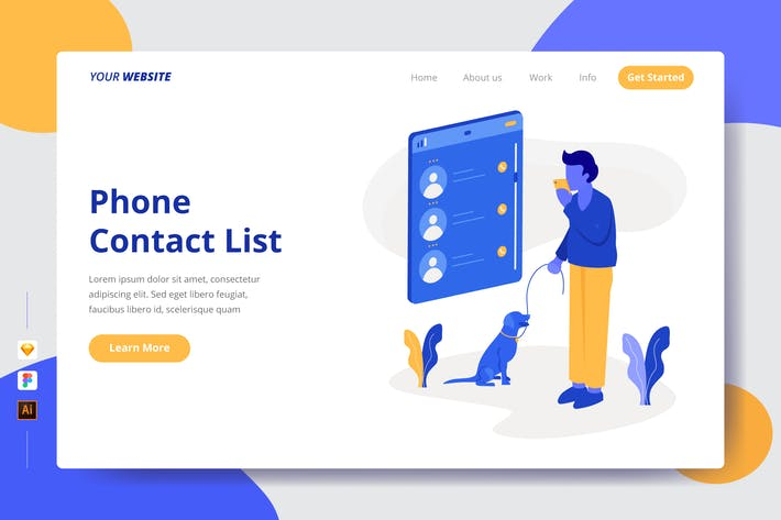 Thumbnail for Phone Contact List - Landing Page