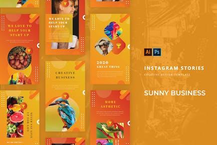 Historia de Instagram Sunny Business