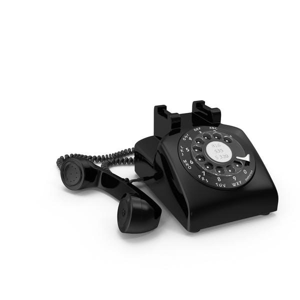 Teléfono rotativo negro