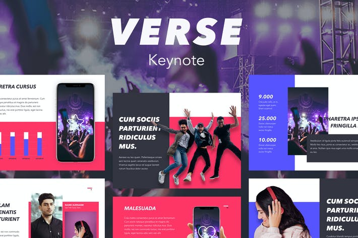 Thumbnail for Verse Keynote Template