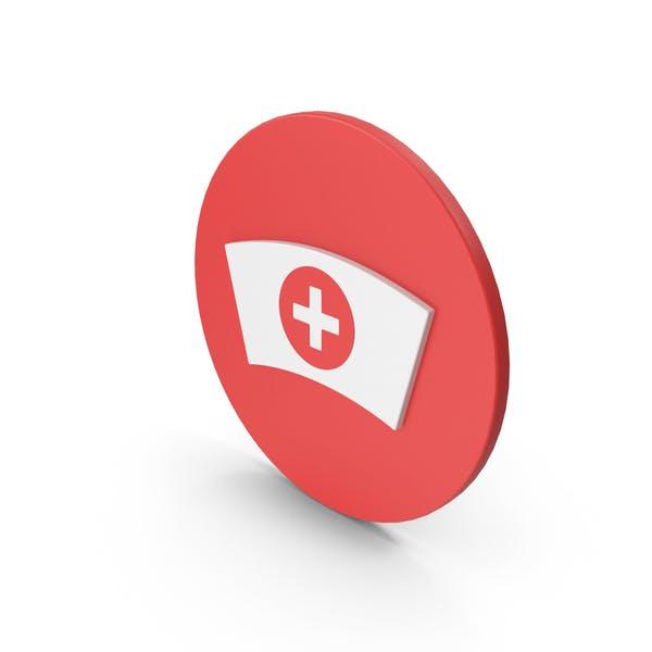 Medizinische Krankenschwester Hut Symbol