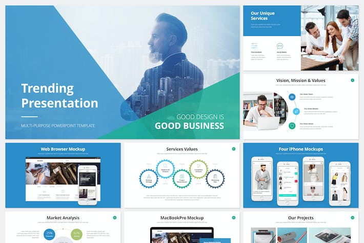 Thumbnail for Trending Presentation PowerPoint Template