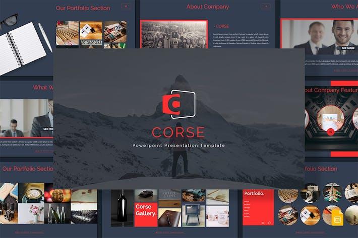 Thumbnail for Corse - Google Slides Template
