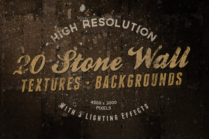 Thumbnail for Stone Wall Textures / Backgrounds