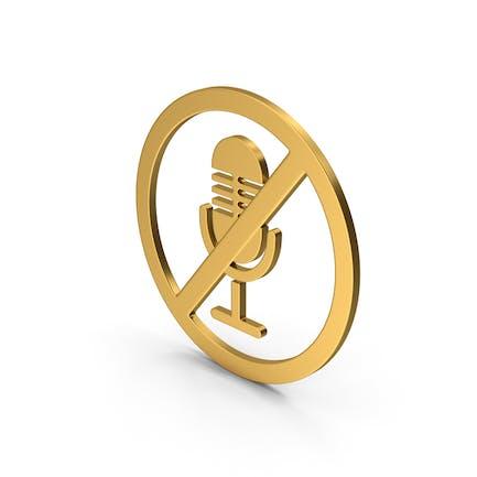 Symbol No Microphone Gold