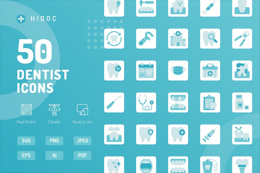 Hidoc - Dentist Icons