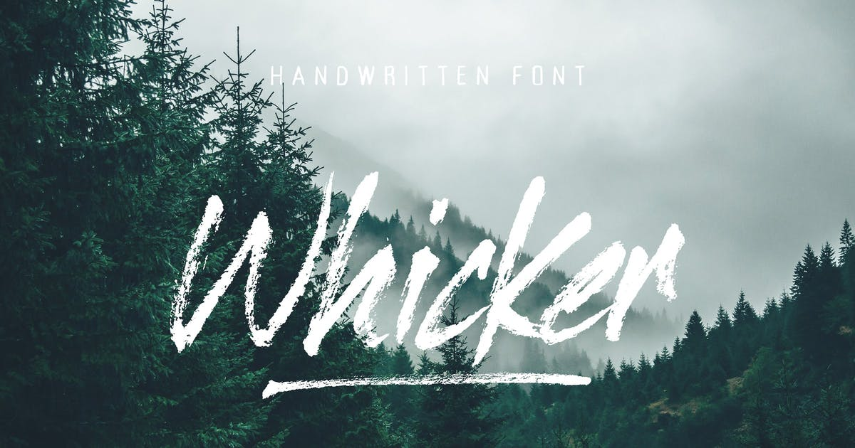 Download Whicker Brush Script Font Duo by tomchalkys