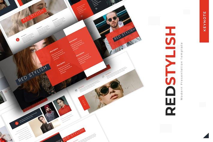 Красный Стильный - Шаблон Keynote