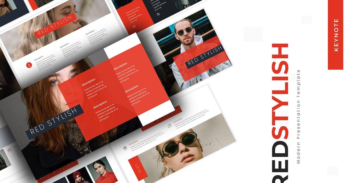 Download Red Stylish - Keynote Template by karkunstudio