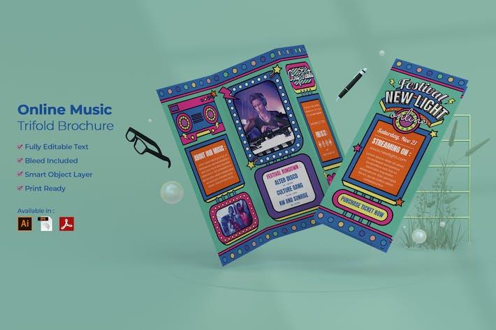 Thumbnail for Online Music Festival Trifold Brochure