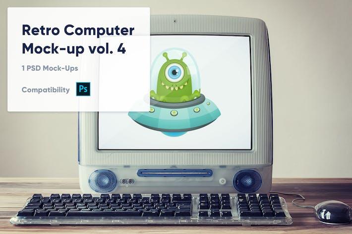 Thumbnail for 1 Retro Computer Mockup vol. 4