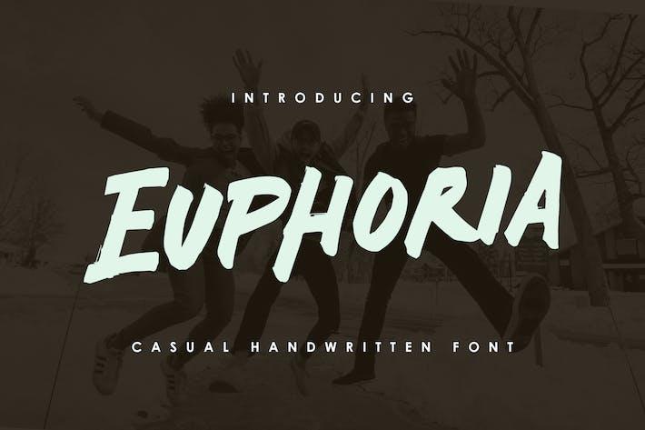 Thumbnail for Euphoria - Casual Handwritten Font
