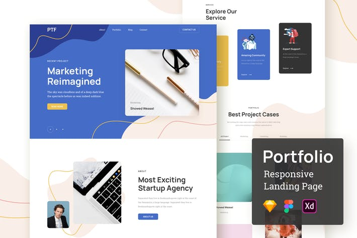 Thumbnail for Portfolio Responsive Landing Page