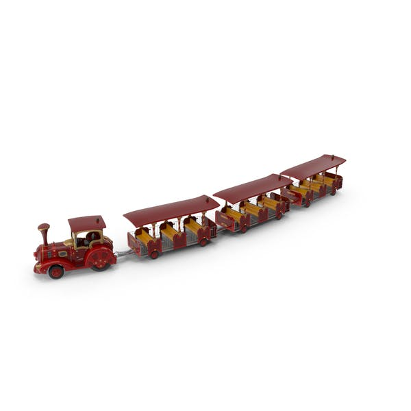 Trackless Red Toy Touristic Christmas Train