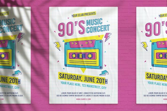 Thumbnail for 90's Music Concert Flyer