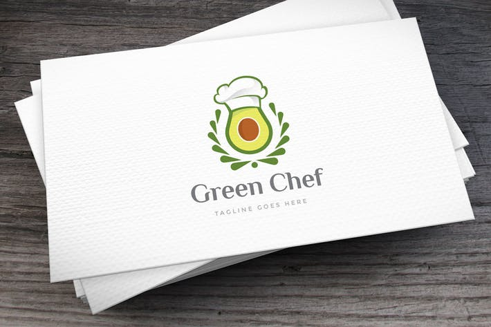 Thumbnail for Green Chef Avocado Logo Template