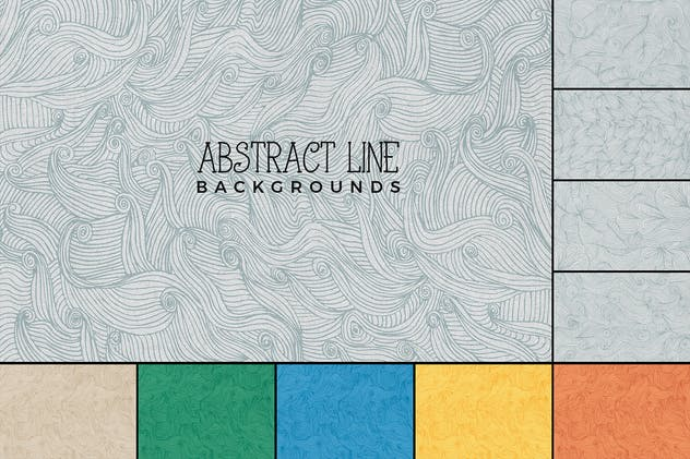 Hand Drawn Abstract Line Backgrounds