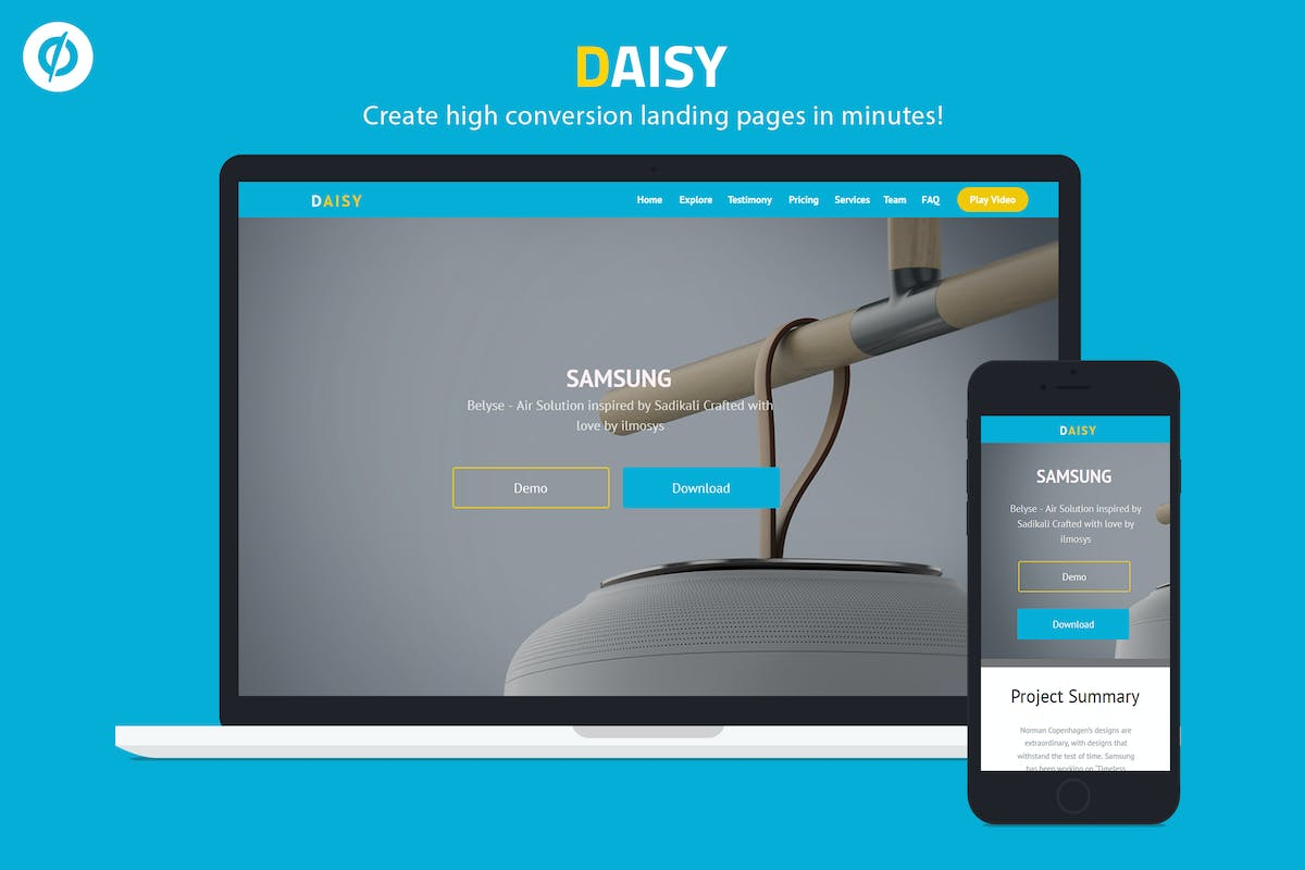 Download Daisy - Unbounce Onepage Template by ILMThemes by Unknow