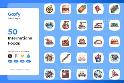 Goofy - International Food Color Icons