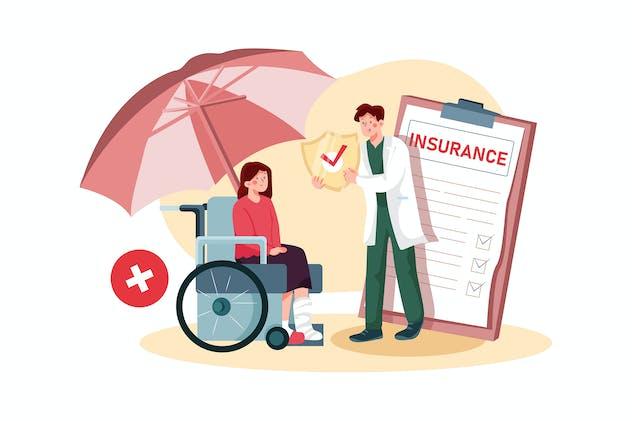 Disability Insurance Illustration Concept