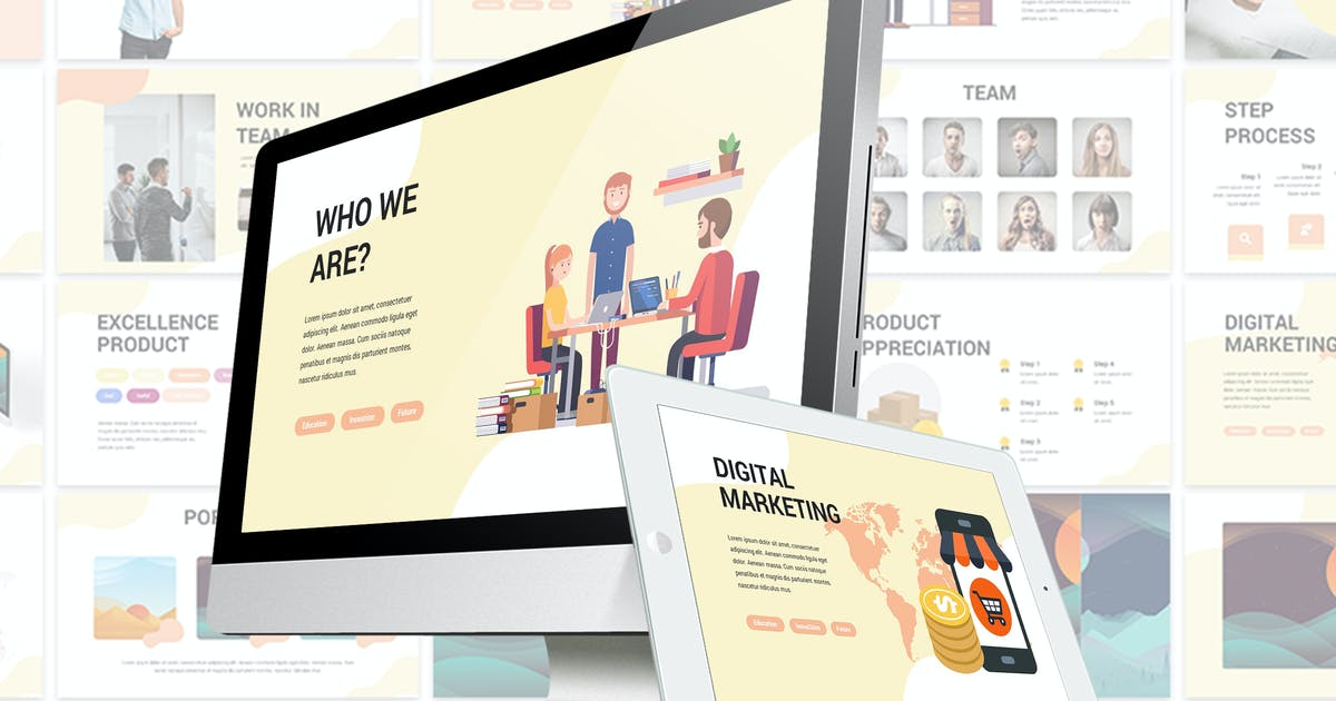 Download Abstract Pitchdeck - Google Slides Template by SlideFactory