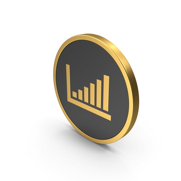 Thumbnail for Bar Graph Gold Icon