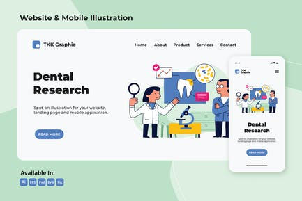 Dental research, dentistry web and mobile