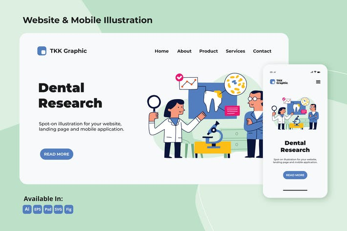 Thumbnail for Dental research, dentistry web and mobile