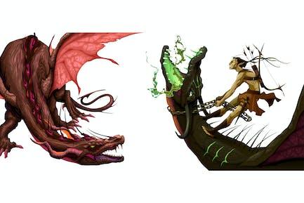 Deux dragons isolés
