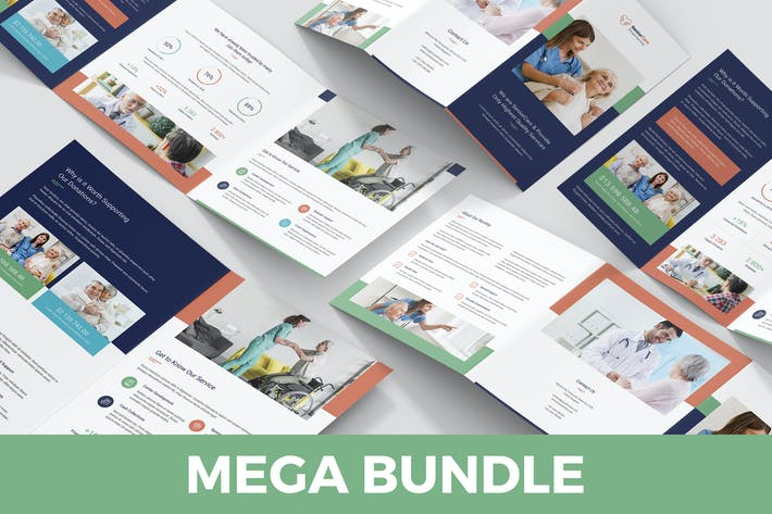Thumbnail for Senior Care – Brochures Bundle Print Templates