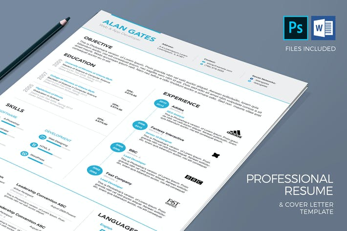 Thumbnail for Simple Resume & Cover Letter Template
