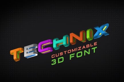 Technix Font 3D Technology Space Science Game