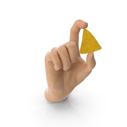 Mano sosteniendo un Chip Doritos Nacho