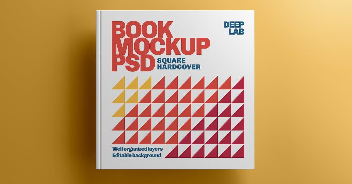 Download Square Book Hardcover Mockup by deeplabstudio