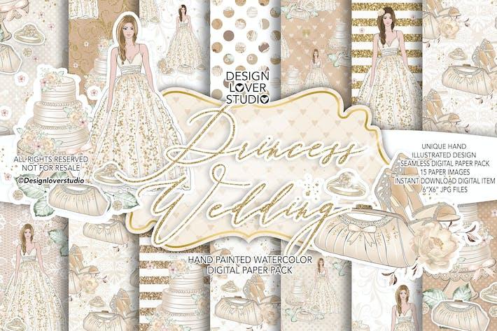 Princess Wedding Digitalpapier